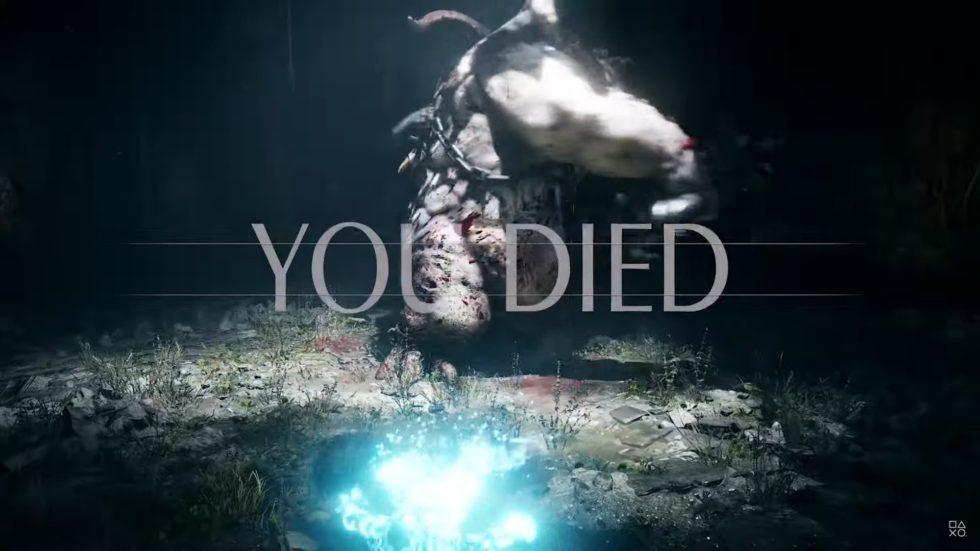 何度と目にするデモンズソウルの死に画面。